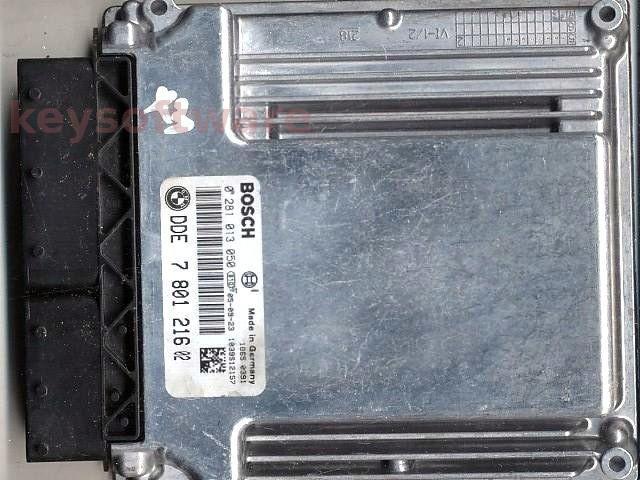 ECU Bmw X3 2.0D DDE7801216 0281013050 EDC16C35-2.12 E83 { +