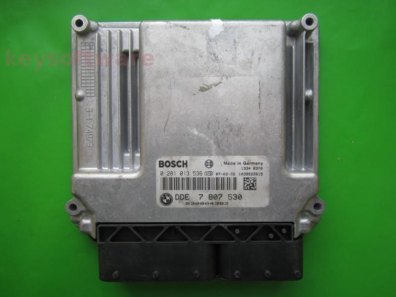 ECU Bmw 320D DDE7807530 0281013536 EDC17CP02 E90