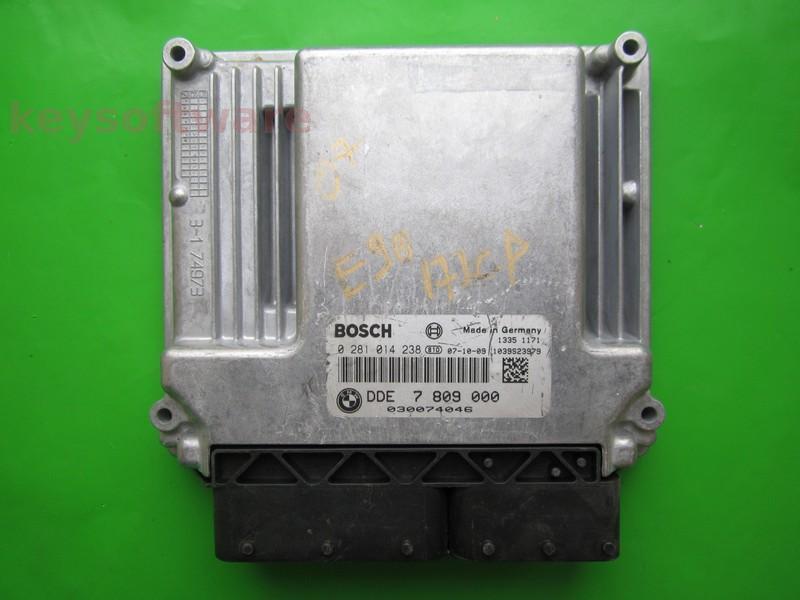 ECU Bmw 520D DDE7809000 0281014238 EDC17CP02 E60