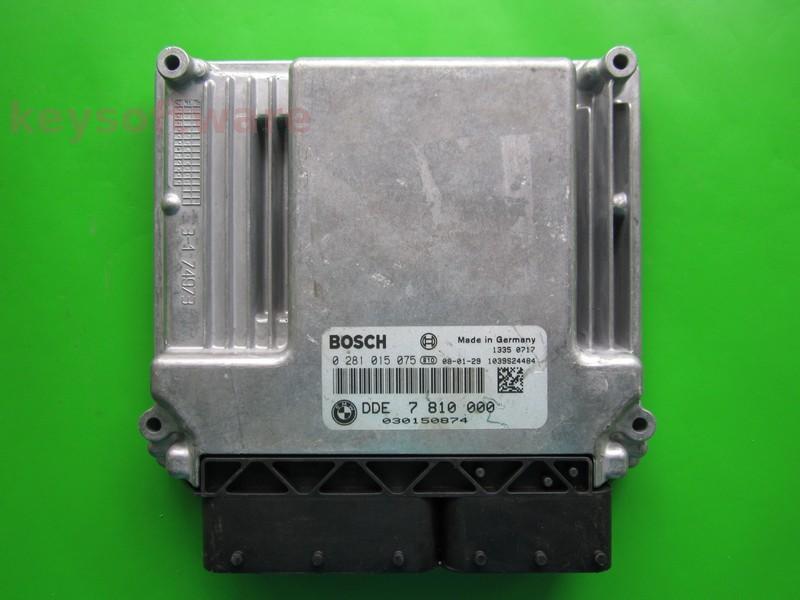 ECU Bmw 120D 0281015075 DDE7810000 EDC17CP02 E87