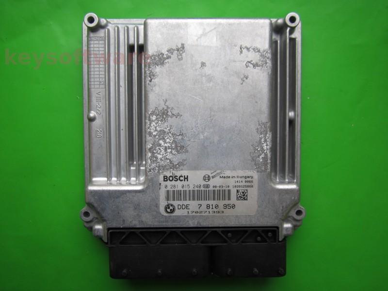ECU Bmw X5 3.0D DDE7810950 0281015240 EDC16CP35 E70 }