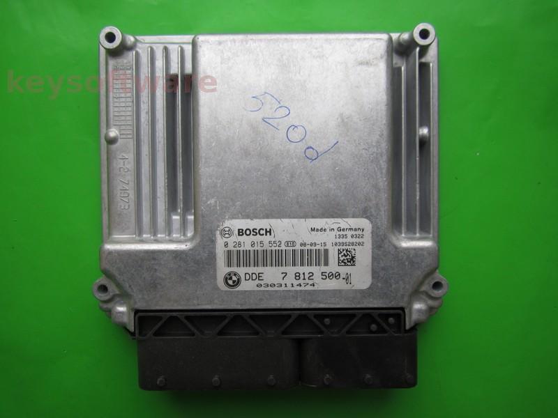 ECU Bmw 520D 0281015552 DDE7812500 EDC17CP02 E60