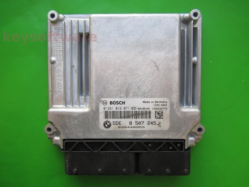 ECU Bmw 123D DDE8507245 0281016071 EDC17CP02 E87