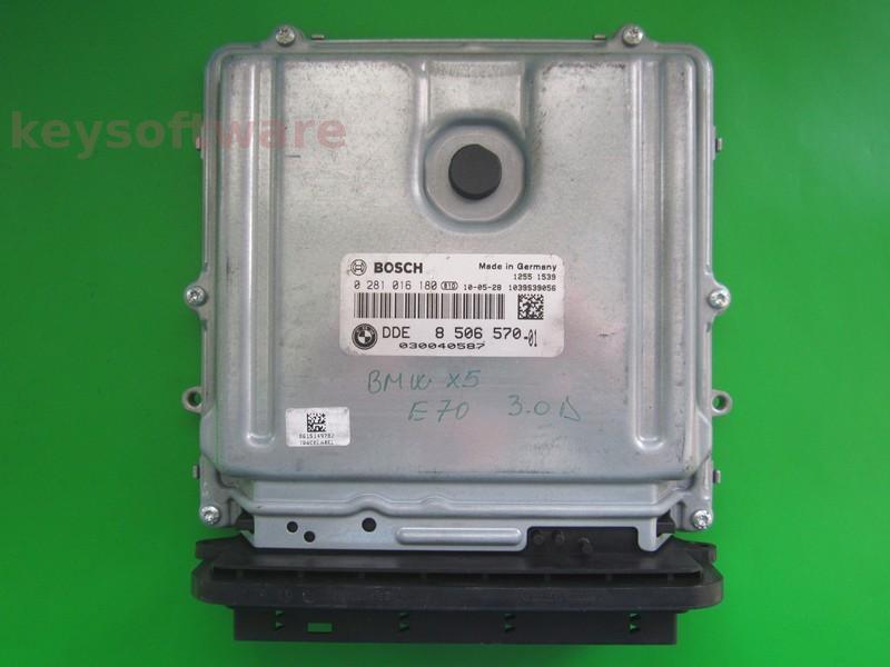 ECU Bmw X5 3.0D DDE8506570 0281016180 EDC17CP45 E70