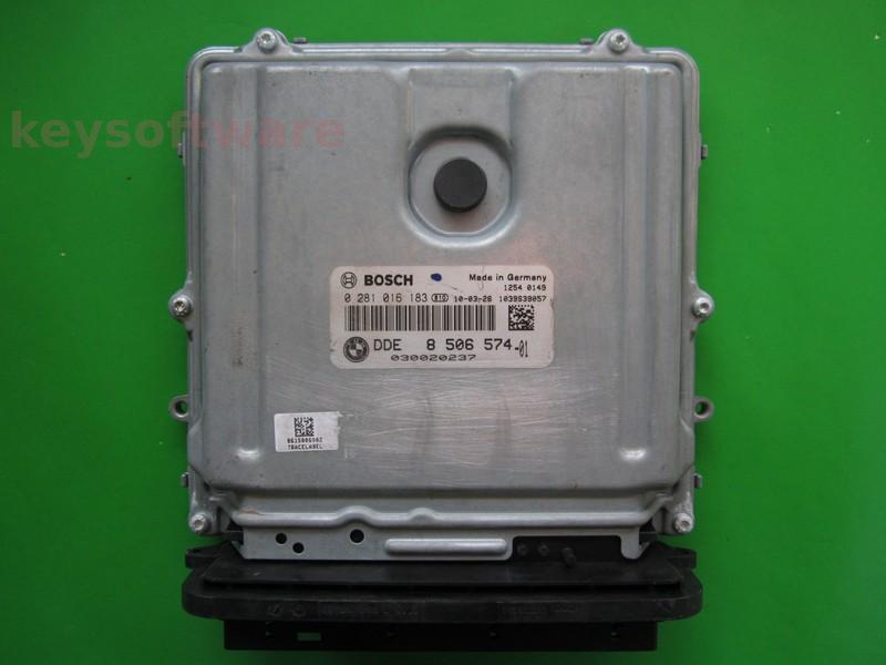 ECU Bmw X5 4.0D DDE8506574 0281016183 EDC17CP45 E70