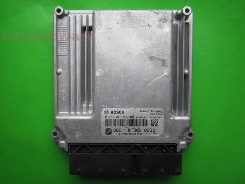 ECU Bmw X5 3.0D DDE8509035 0281016639 EDC16CP35 E70 {