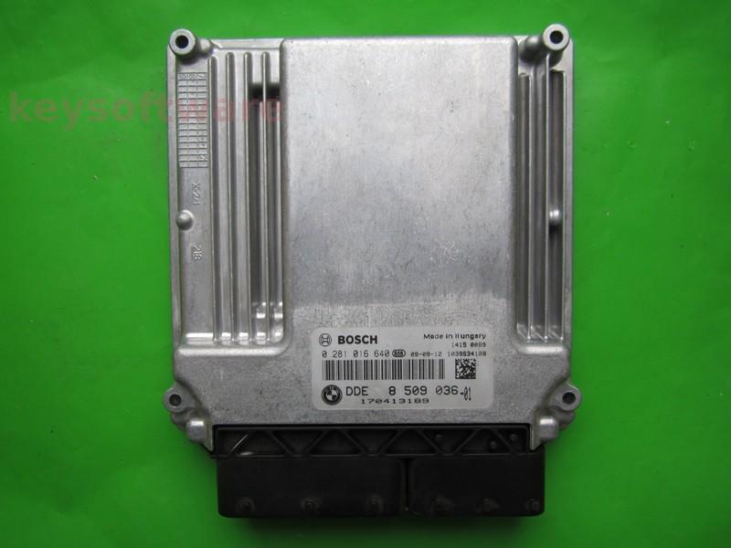 ECU Bmw X5 3.0D DDE8509036 0281016640 EDC16CP35 E70 } +