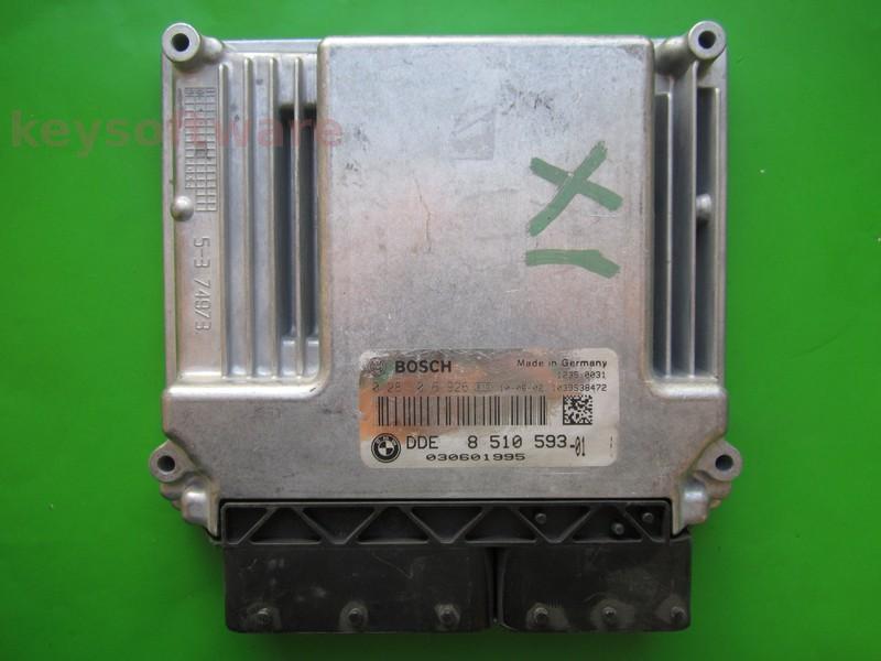 ECU Bmw 123D DDE8510593 0281016926 EDC17CP02 E87