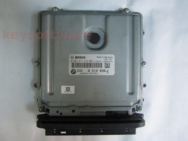 ECU Bmw X5 3.0D DDE8510838 0281017018 EDC17CP45 E70