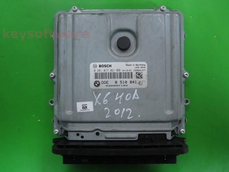 ECU Bmw X6 4.0D DDE8510841 0281017021 EDC17CP45 E71