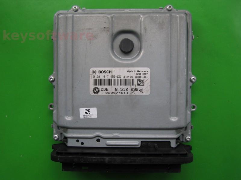ECU Bmw 316D DDE8512292 0281017450 EDC17C41 E91