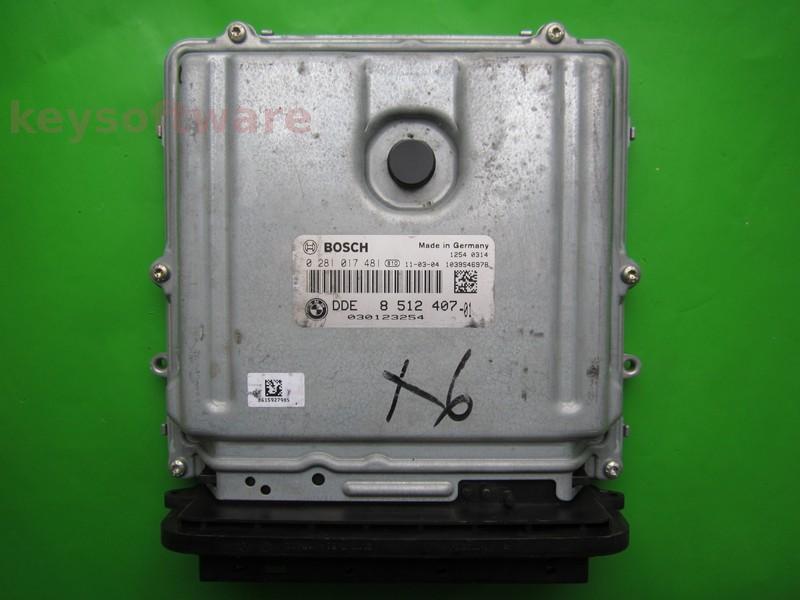 ECU Bmw X6 3.0D DDE8512407 0281017481 EDC17CP45 E71