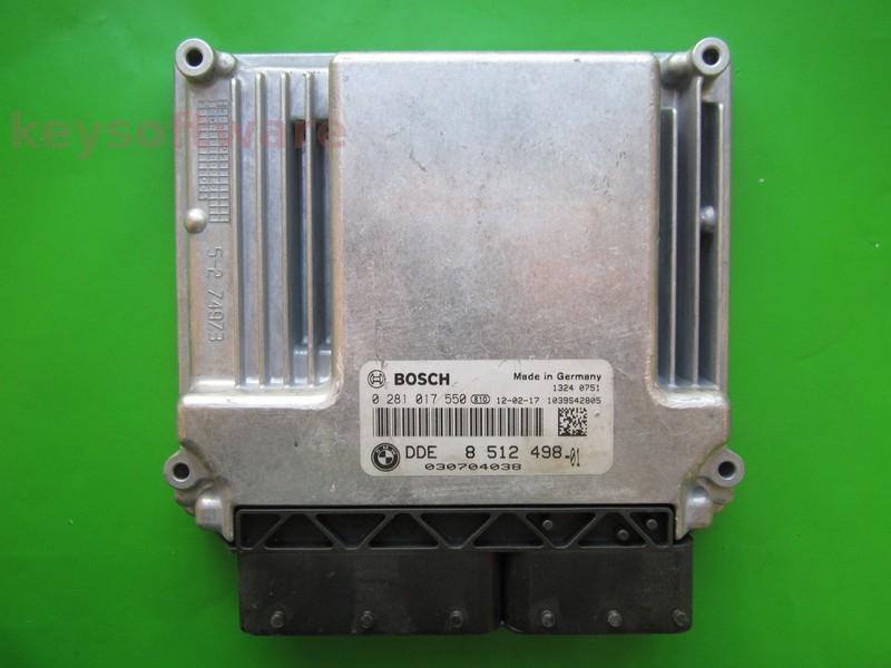 ECU Bmw 120D DDE8512498 0281017550 EDC17CP02 E87^