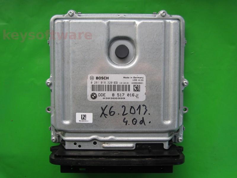 ECU Bmw X6 4.0D DDE8517016 0281018320 EDC17CP45
