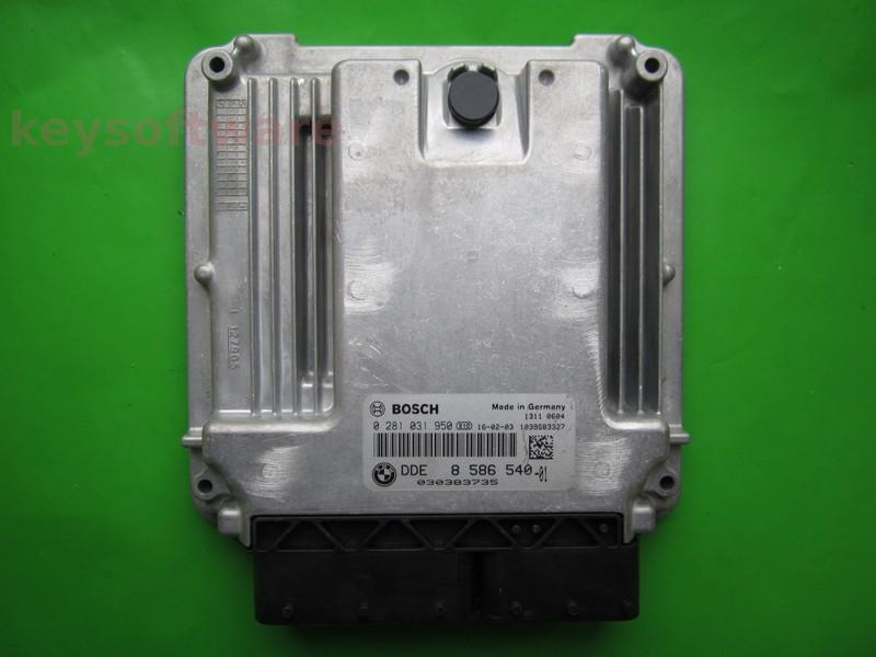 ECU Bmw X5 3.0D DDE8586540 0281031950 EDC17C56 F15