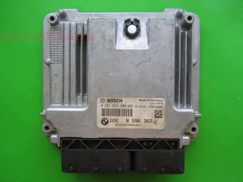 ECU Bmw 2.0D DDE8596362 0281033806 EDC17C50 F30