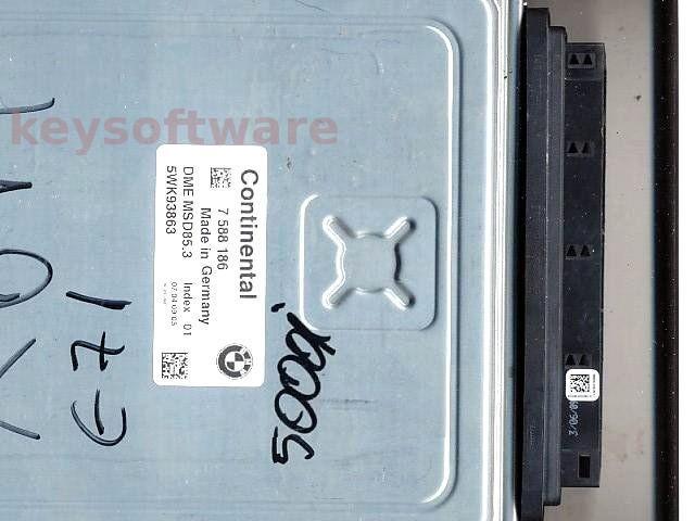 ECU Bmw X5 5.0 7588186 5WK93863 DME MSD85.3 E70