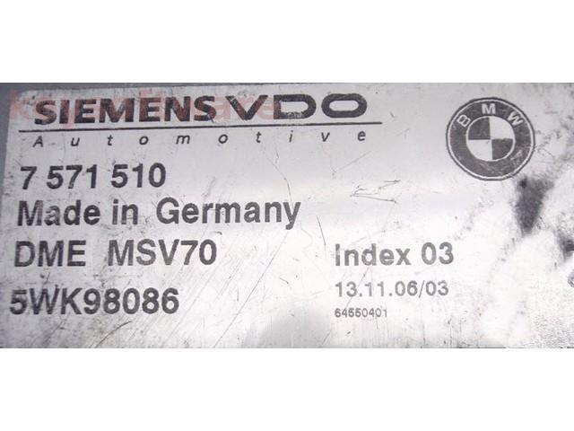 ECU Bmw Z4 3.0 7571510 5WK98086 DME MSV70 E85 {