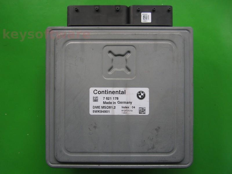 ECU Bmw 118 7621178 5WK94901 MSD81.2