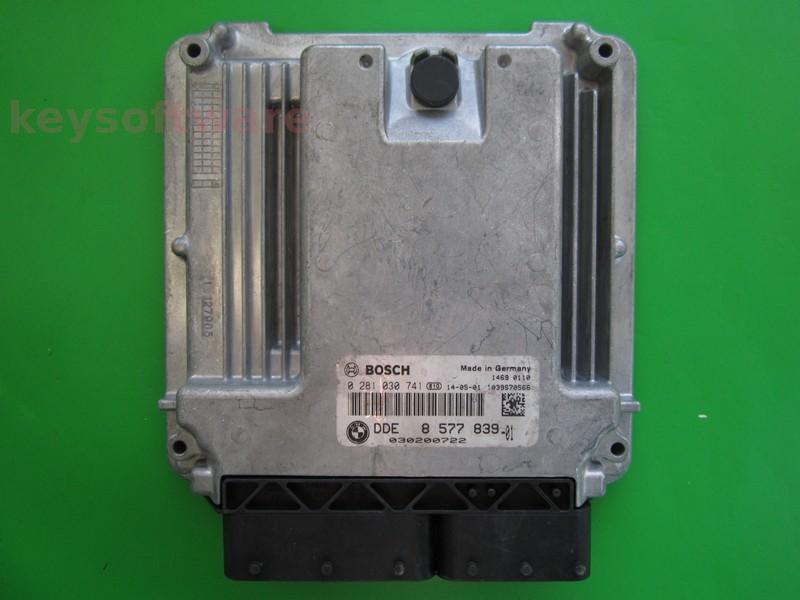ECU Bmw X3 3.0D DDE8577839 0281030741 EDC17C56 F15