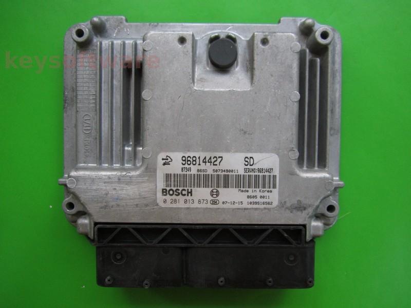ECU Chevrolet Captiva 2.0CDTI 96814427 0281013873 EDC16C39 {