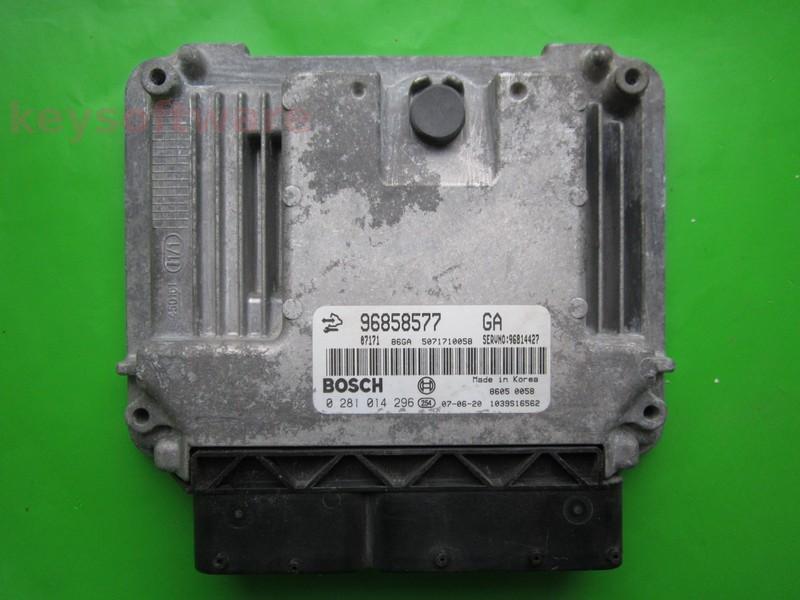 ECU Chevrolet Captiva 2.0CDTI 96858577 0281014296 EDC16C39 }
