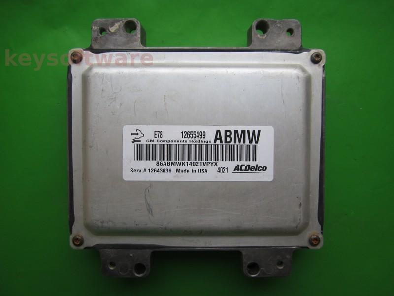 ECU Chevrolet Cruze 1.6 12655499 12643636 ABMW ACDELCO E78