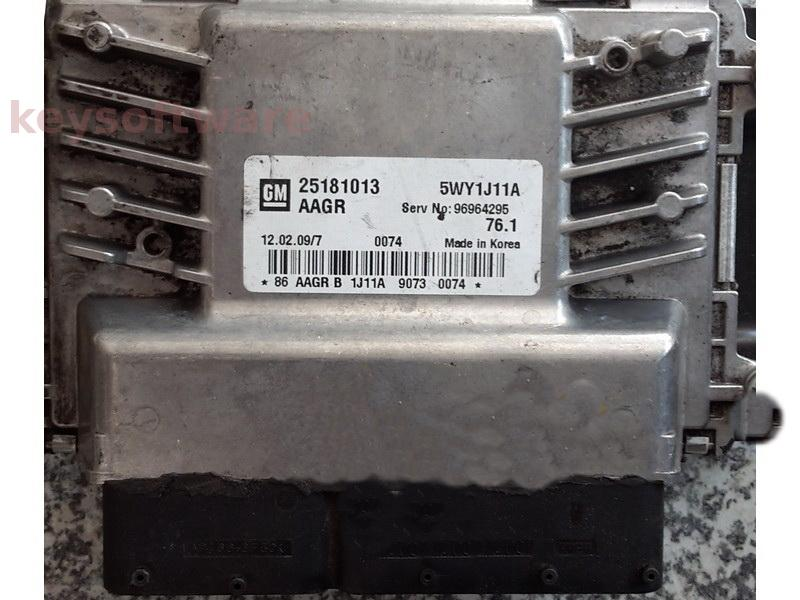 ECU Chevrolet Cruze 1.6 25181013 SIMTEC 76.1 {