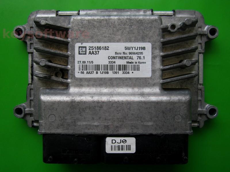 ECU Chevrolet Cruze 1.6 25186182 AA37 SIMTEC 76.1
