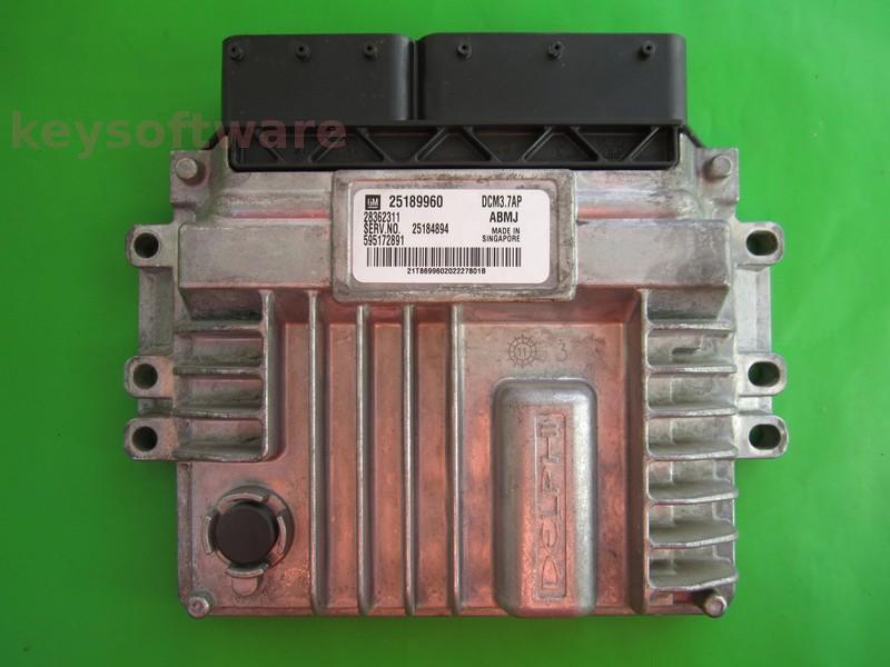 ECU Chevrolet Captiva 2.0CDTI 25189960 25184894 DCM3.7AP