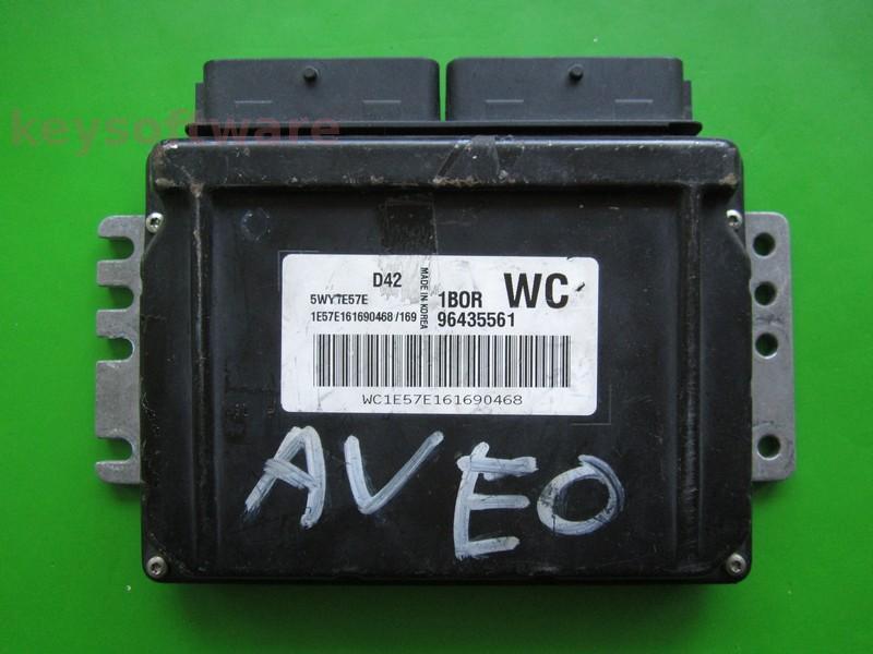 ECU Chevrolet Aveo 1.2 96435561 5WY1E57E WC Sirius D42