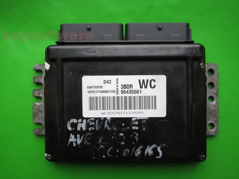 ECU Chevrolet Aveo 1.2 96435561 WC Sirius D42
