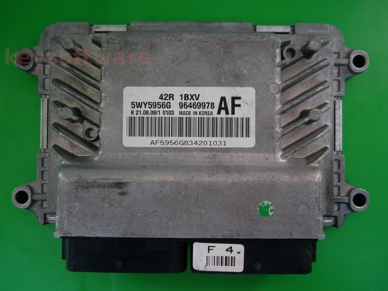 ECU Chevrolet Aveo 1.2 96469978 5WY5956G AF 42R