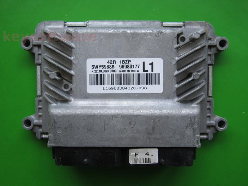 ECU Chevrolet Aveo 1.2 96983177 5WY5968B L1 42R