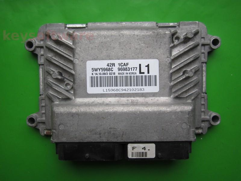 ECU Chevrolet Aveo 1.2 96983177 5WY5968C L1 42R