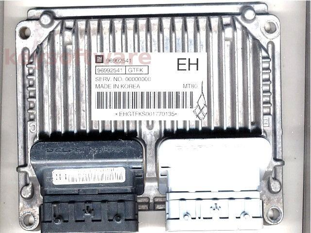 ECU Chevrolet Aveo 1.4 96992541 EH MT80