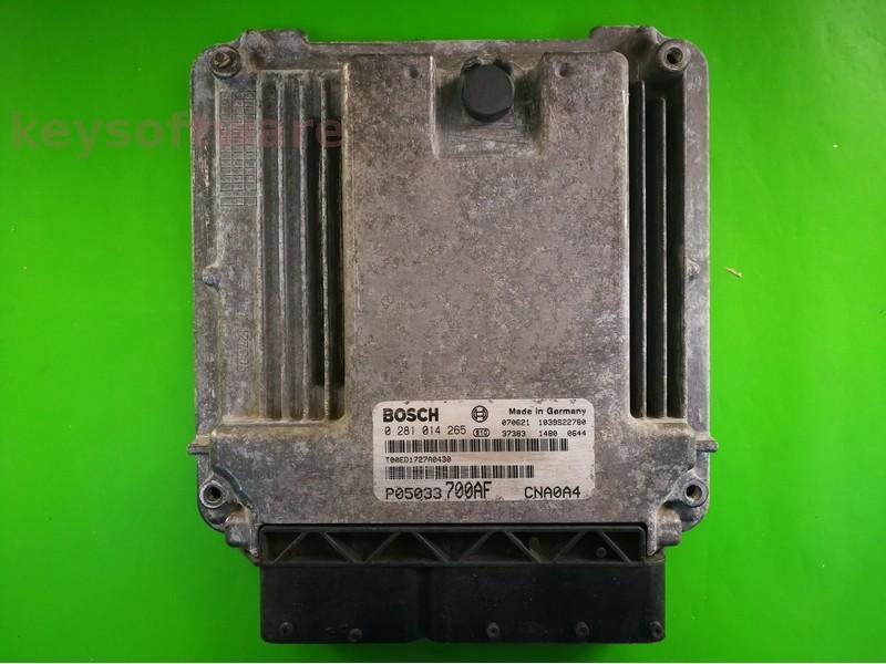 ECU Dodge Avenger 2.0CRD P05033700AF 0281014265 EDC16U31 {