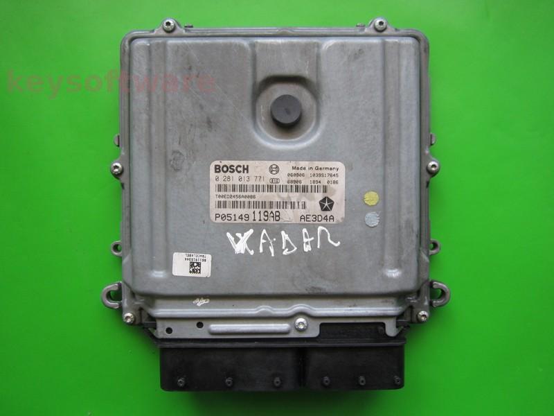 ECU Chrysler 300C 3.0CRD P05149119AB 0281013771 EDC16CP31