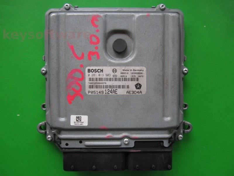 ECU Chrysler 300C 3.0CRD P05149124AE 0281013903 EDC16CP31 {