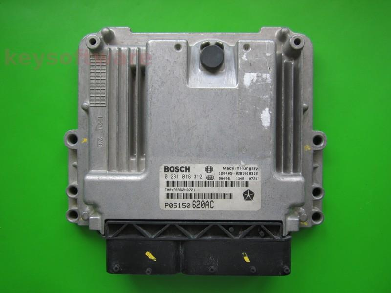ECU Chrysler Crossfire 2.0CRD P05150620AC 0281018312 EDC17C49