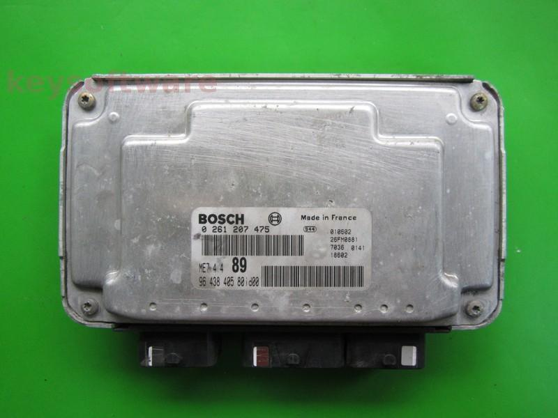 ECU Citroen Berlingo 1.6 9643840580 0261207475 ME7.4.4 {