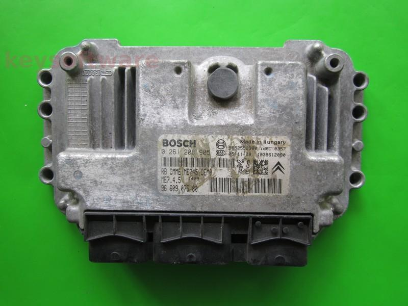 ECU Citroen Berlingo 1.6 9660907580 0261208905 ME7.4.5 {