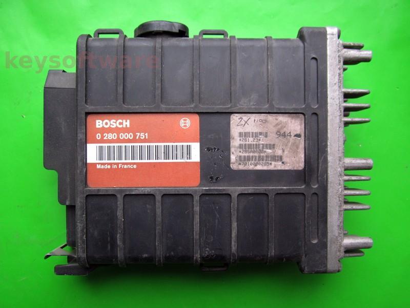 ECU Citroen AX 1.1 96104435 0280000751 SG-A2-2