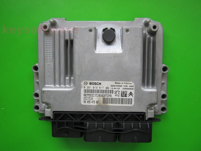 ECU Citroen Berlingo 1.6HDI 9805947380 0281019817 EDC17C10