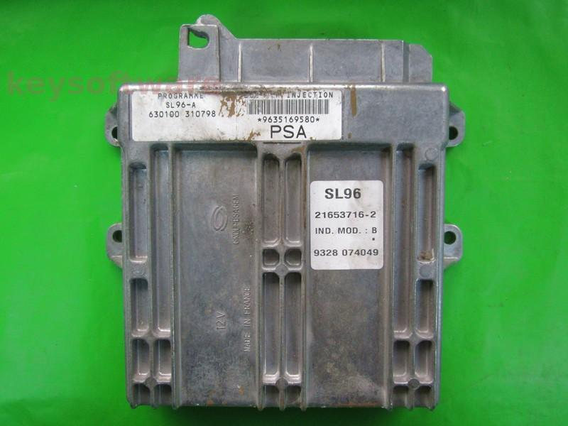 ECU Citroen Berlingo 1.4 9635169580 21653716 SL96 {