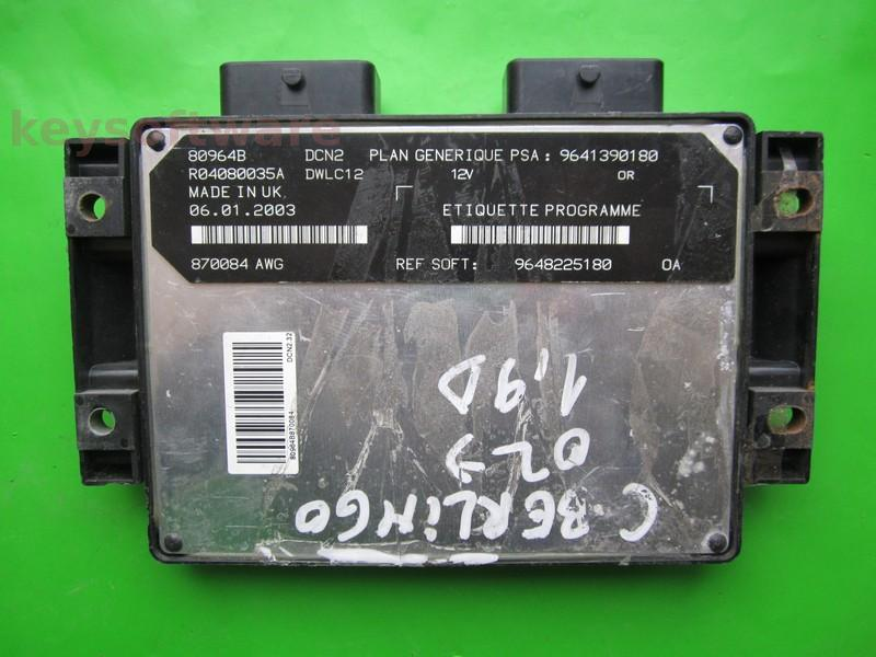 ECU Citroen Berlingo 1.9D 9648225180 DCN2