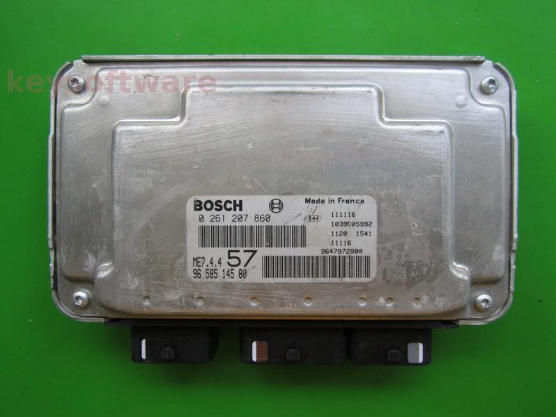 ECU Citroen C3 1.6 9658514580 0261207860 ME7.4.4