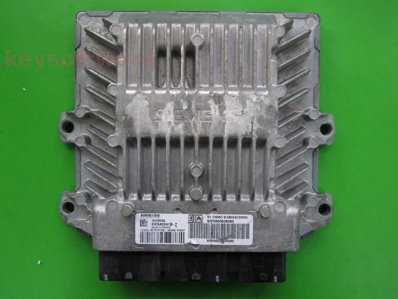 ECU Citroen C4 2.0HDI 9660508080 5WS40341B-T SID803A