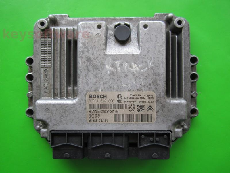 ECU Citroen Berlingo 1.6HDI 9661813780 0281012620 EDC16C34 9HW