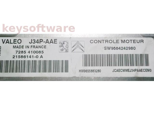 ECU Citroen Berlingo 1.4 9664242980 J34P-AAE {